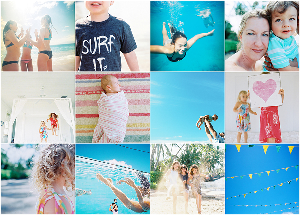 maui family photographer wendy laurel's collage of hawaii family photography
