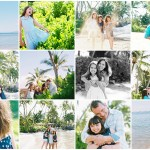 maui photographer wendy laurel's collage of baby beach lahaina maui family photography