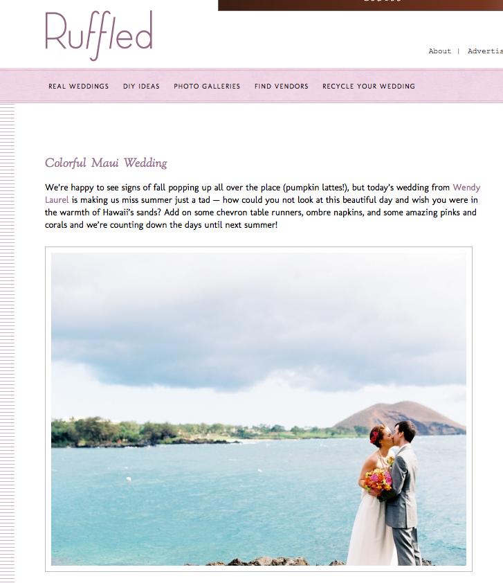 maui wedding on ruffled blog