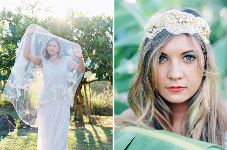 maui wedding photographer wendy laurel's images of bride in hushed commotion veils and headpieces in hawaii-39