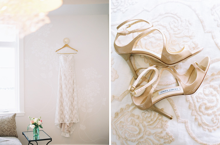 photographer wendy lauel's i mage of wedding gown and shoes in hawaii