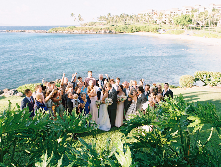 maui photographer wendy laurel's film images of maui wedding at merrimans in kapalua