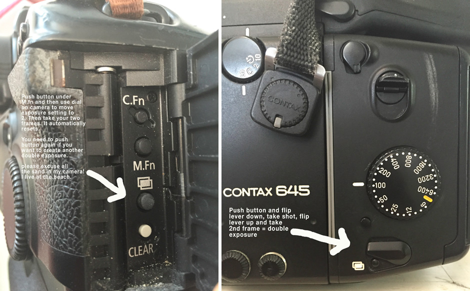 tutorial on double exposures on contax 645 and canon 1v-1