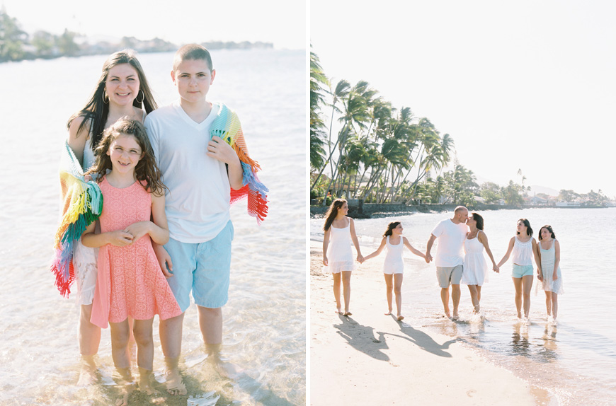 Maui photographer Wendy Laurel extended family session at Baby Beach Lahaina