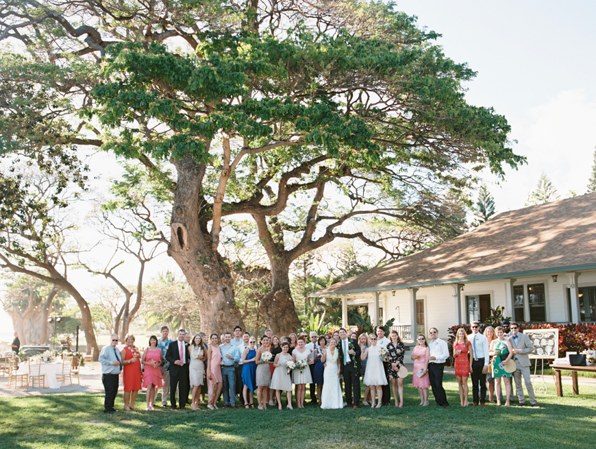 family group shot at maui wedding by wendy laurel
