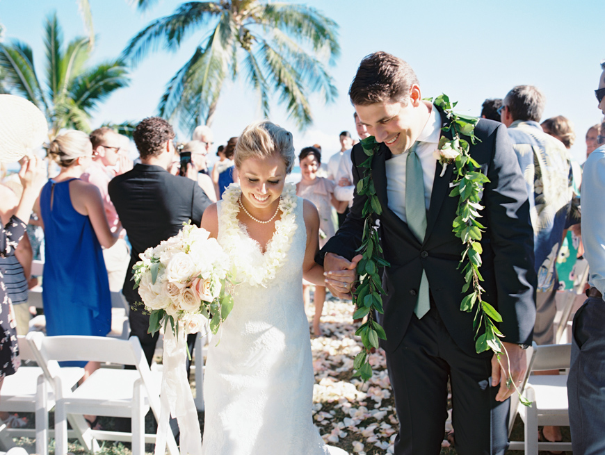 walking down the aisle image at olowalu plantation house