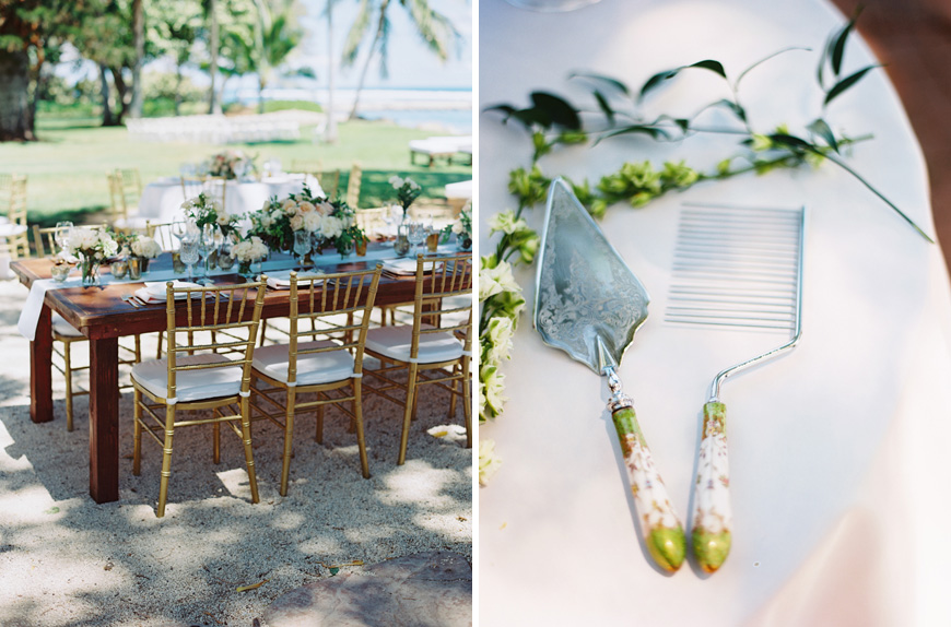 maui table setting at olowalu plantation house image