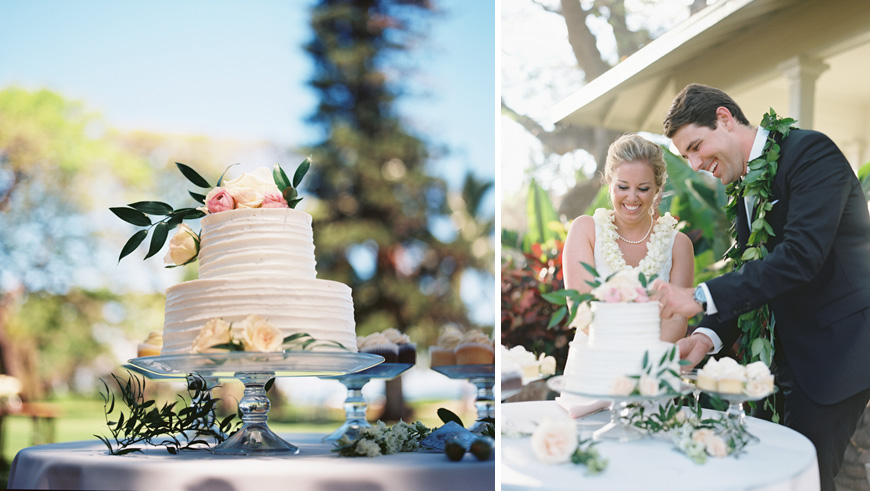 maui wedding cake photo by wendy laurel