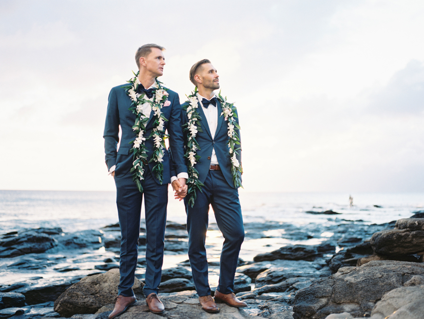 two grooms same wedding at merrimans in kapalua maui by maui photographer wendy laurel-44