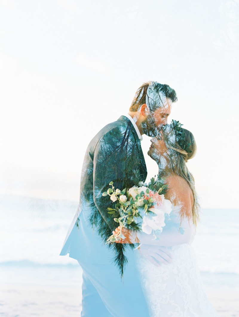 a love story elopement in kapalua maui on the beach by maui photographer wendy laurel-