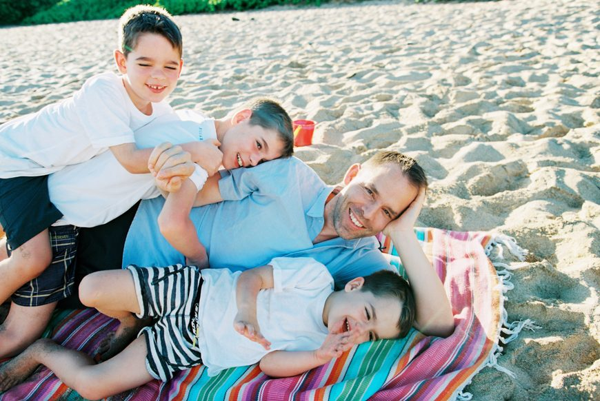 real and authentic family photographs on ironwoods beach in kapalua, maui by maui photographer wendy laurel