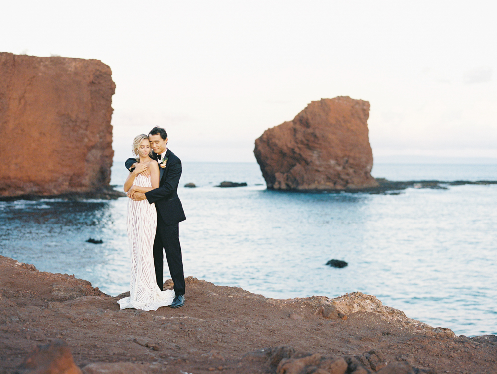 four seasons manele bay lanai wedding photography shoot by maui wedding photographer wendy laurel