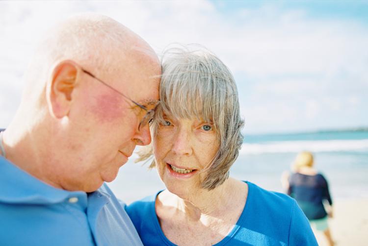 grandparents on maui beach image