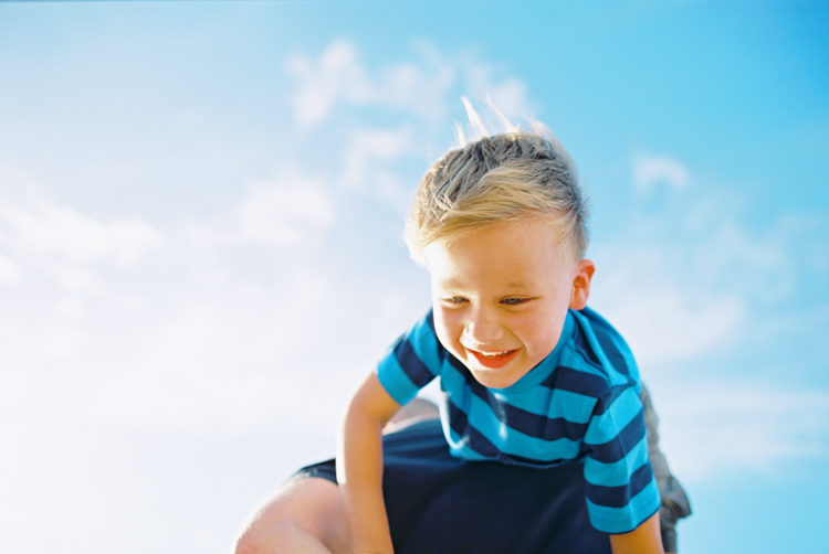 little boy on lahaina beach by wendy laurel
