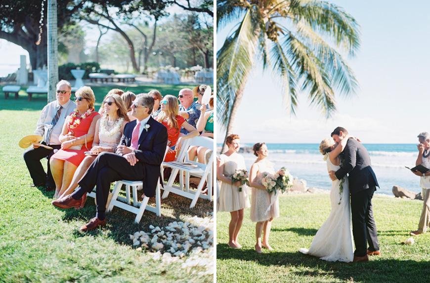 maui wedding ceremony at olowalu plantation house