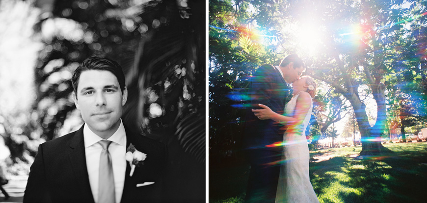 rainbow effects on bride and groom image