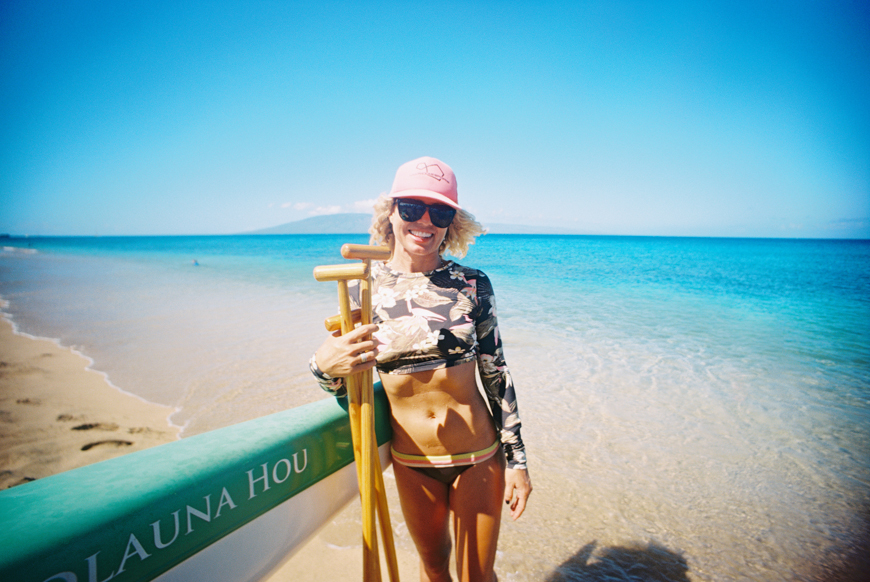 photo of tara from maui paddlesports at the westin by photographer wendy laurel