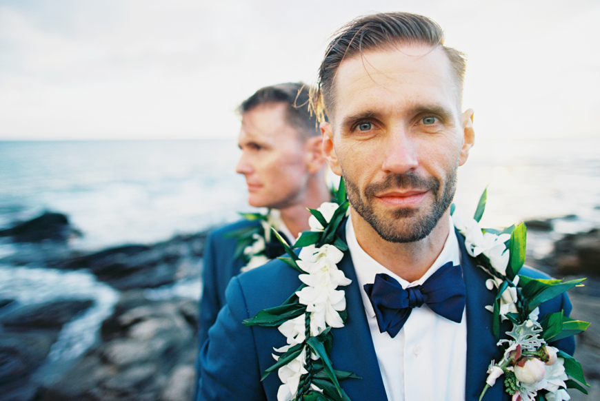 two grooms same wedding at merrimans in kapalua maui by maui photographer wendy laurel-1