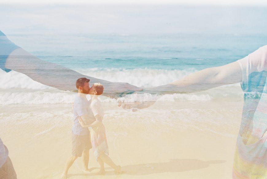 film photography of family on the beach portraits on poipu beach kauai by maui photographer wendy laurel