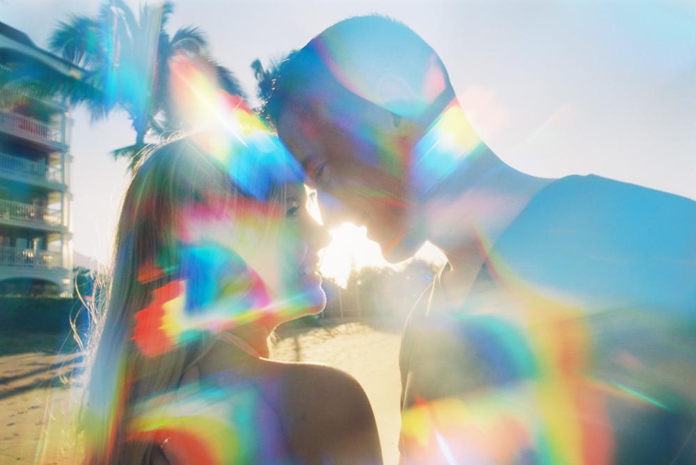 maui couple shoot on the beach in lahaina by maui photographer wendy laurel